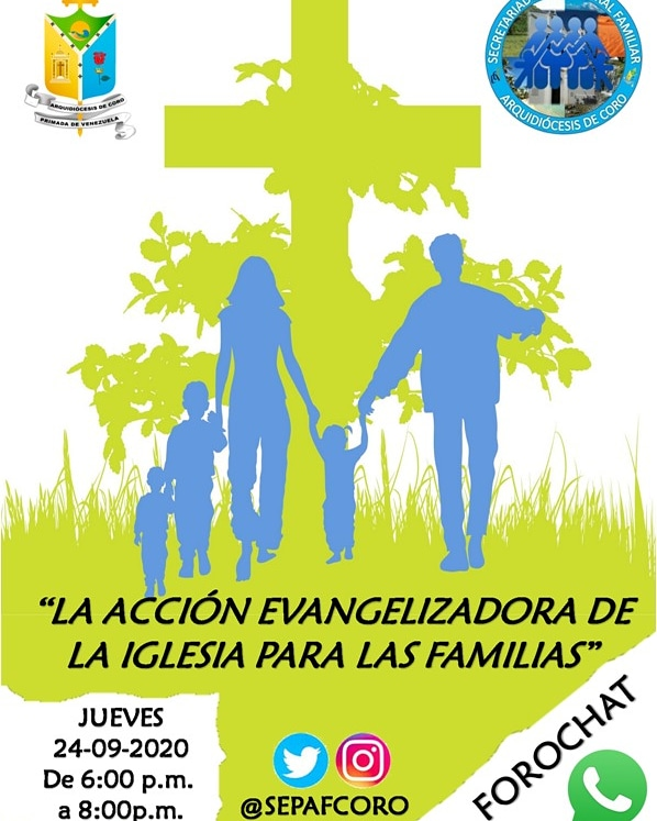 Forochat «La Acción Evangelizadora de la Iglesia para las Familias»: Pastoral Familiar de la Arquidiócesis de Coro inicia ciclo de formaciones